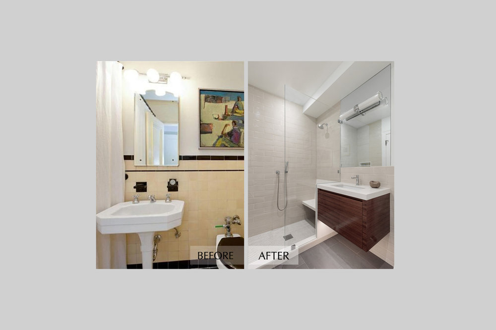 DESIGN415 | San Francisco Pacific Heights Before and After Guest Bathroom Remodel