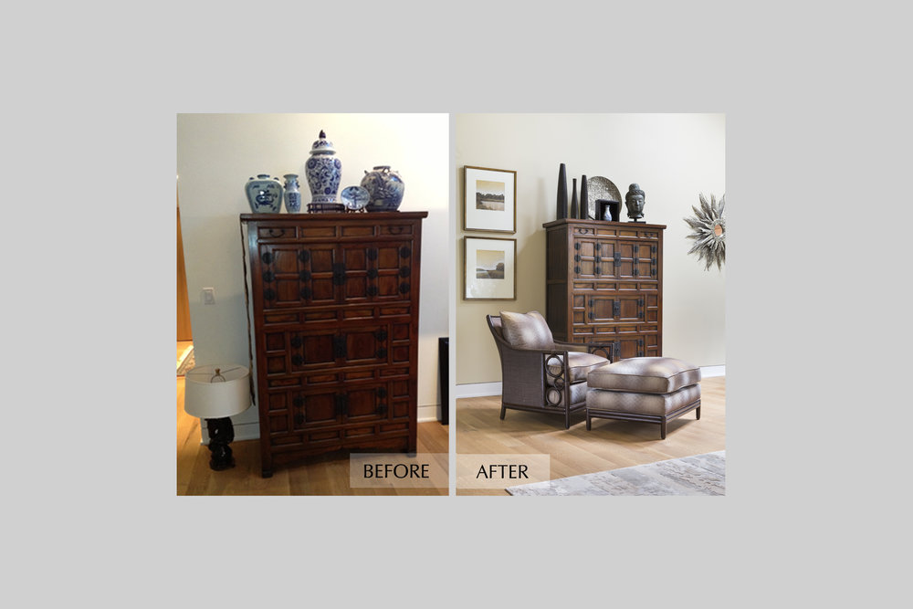 DESIGN415 | Before and After Atherton Room Design