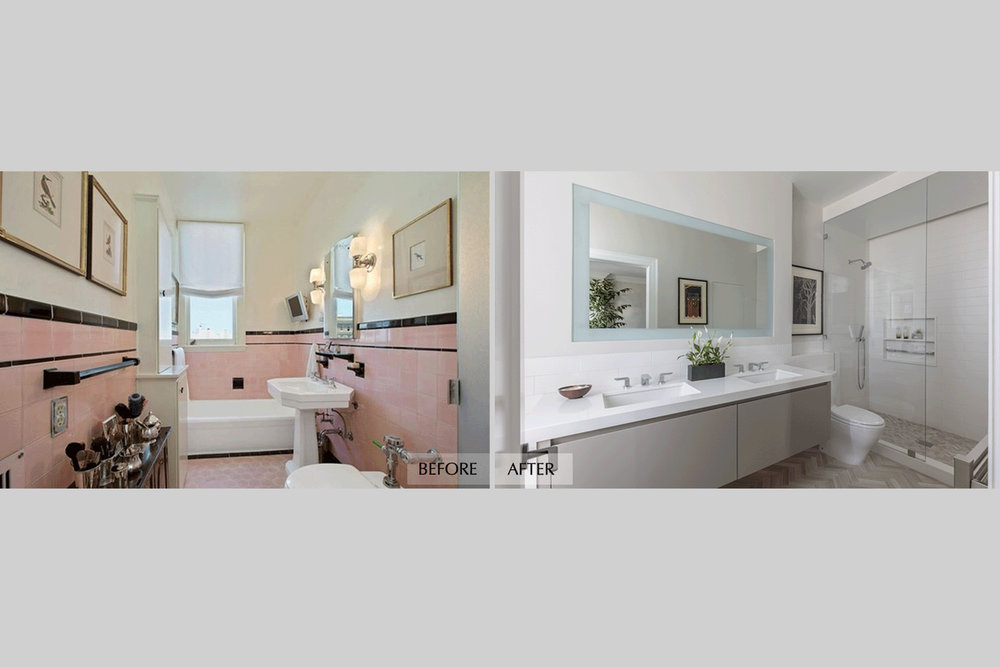DESIGN415 | Before and After Pacific Heights San Francisco Bathroom Remodel