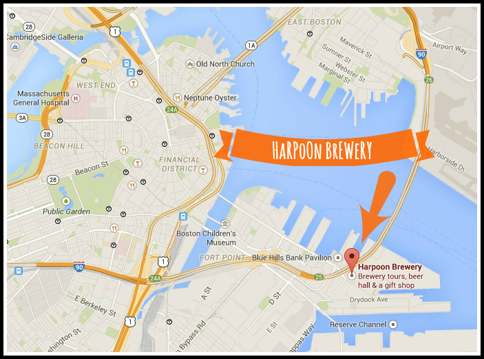 Harpoon Brewery map
