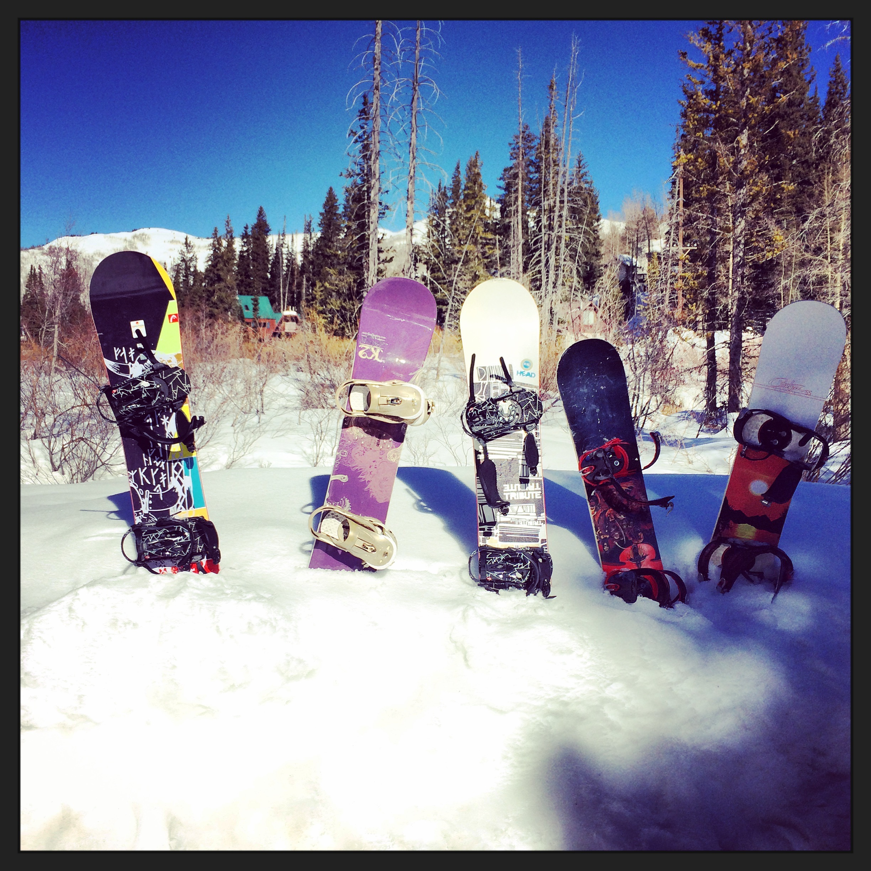 our boards at brighton ski resort