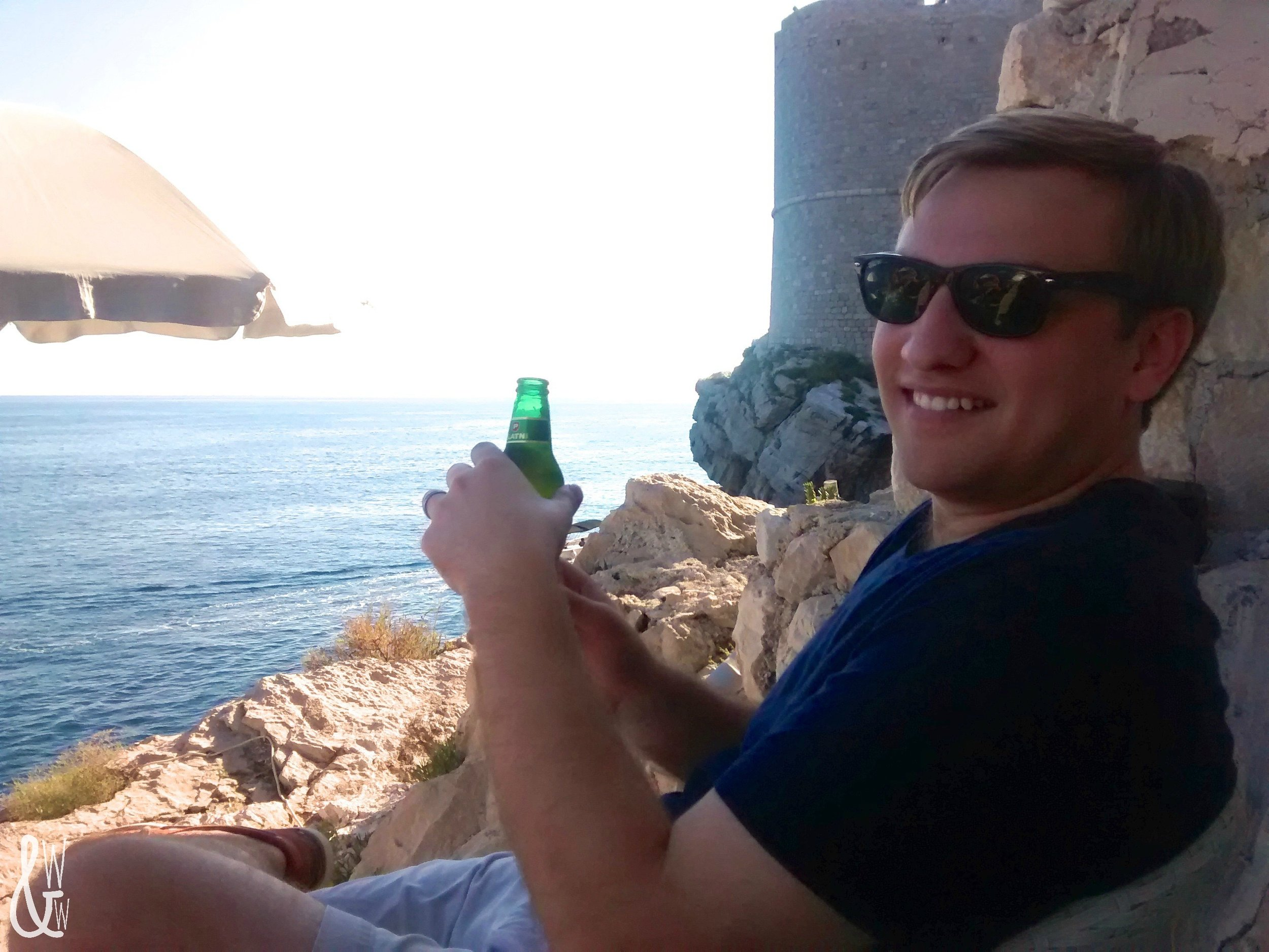 Soaking up the sun at Cafe Buza | Dubrovnik | Croatia