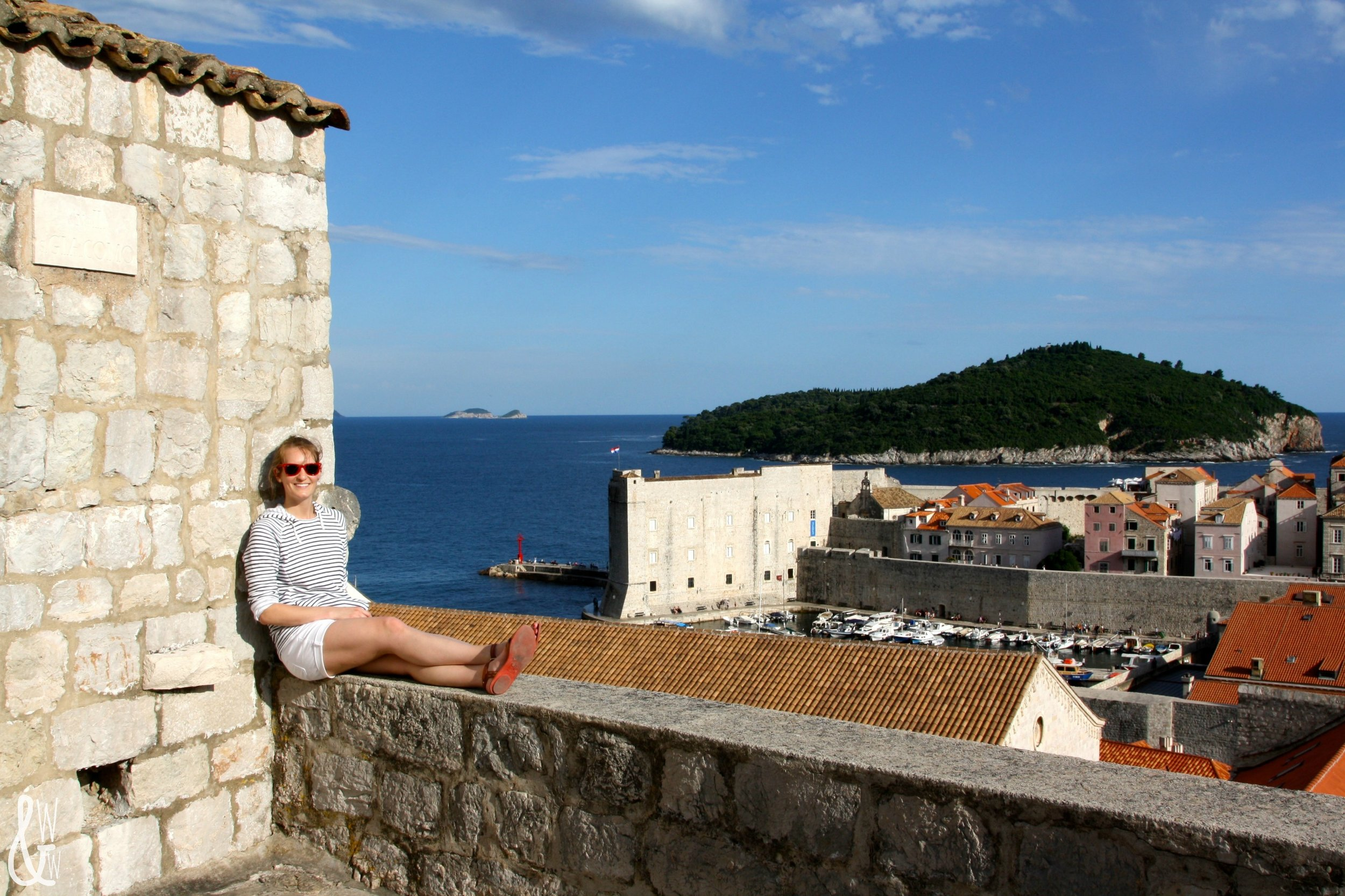Bailey atop the Dubrovnik city walls