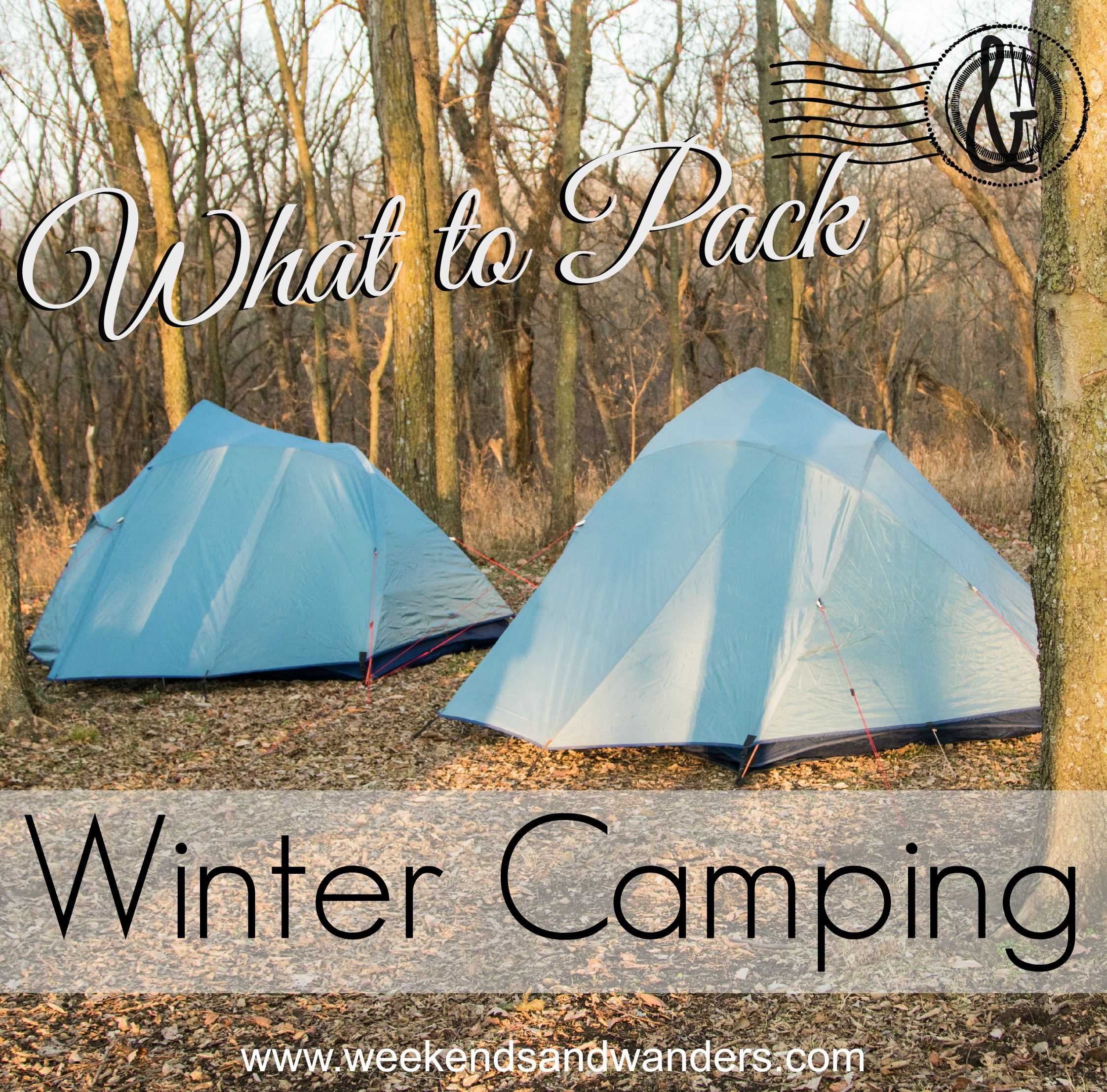 Winter camping is fun AND possible! You just have to have the right gear. Find out what to pack at Weekends & Wanders