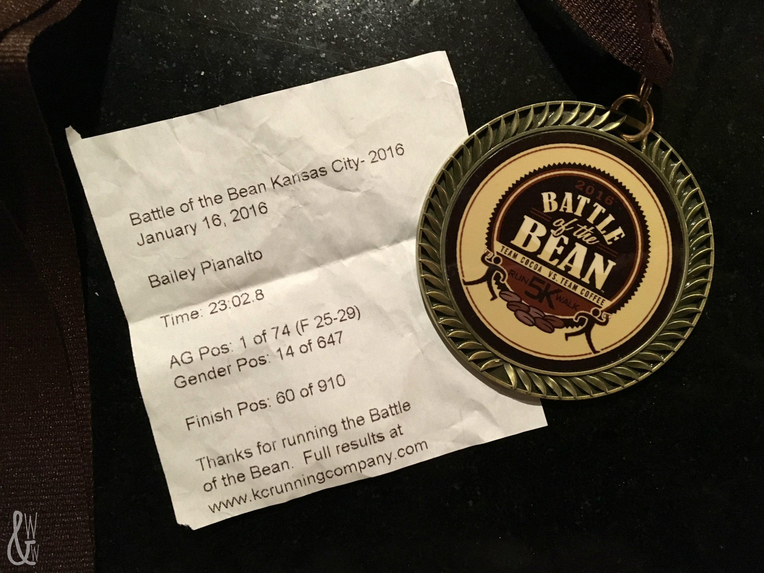 Race results from the Battle of the Bean