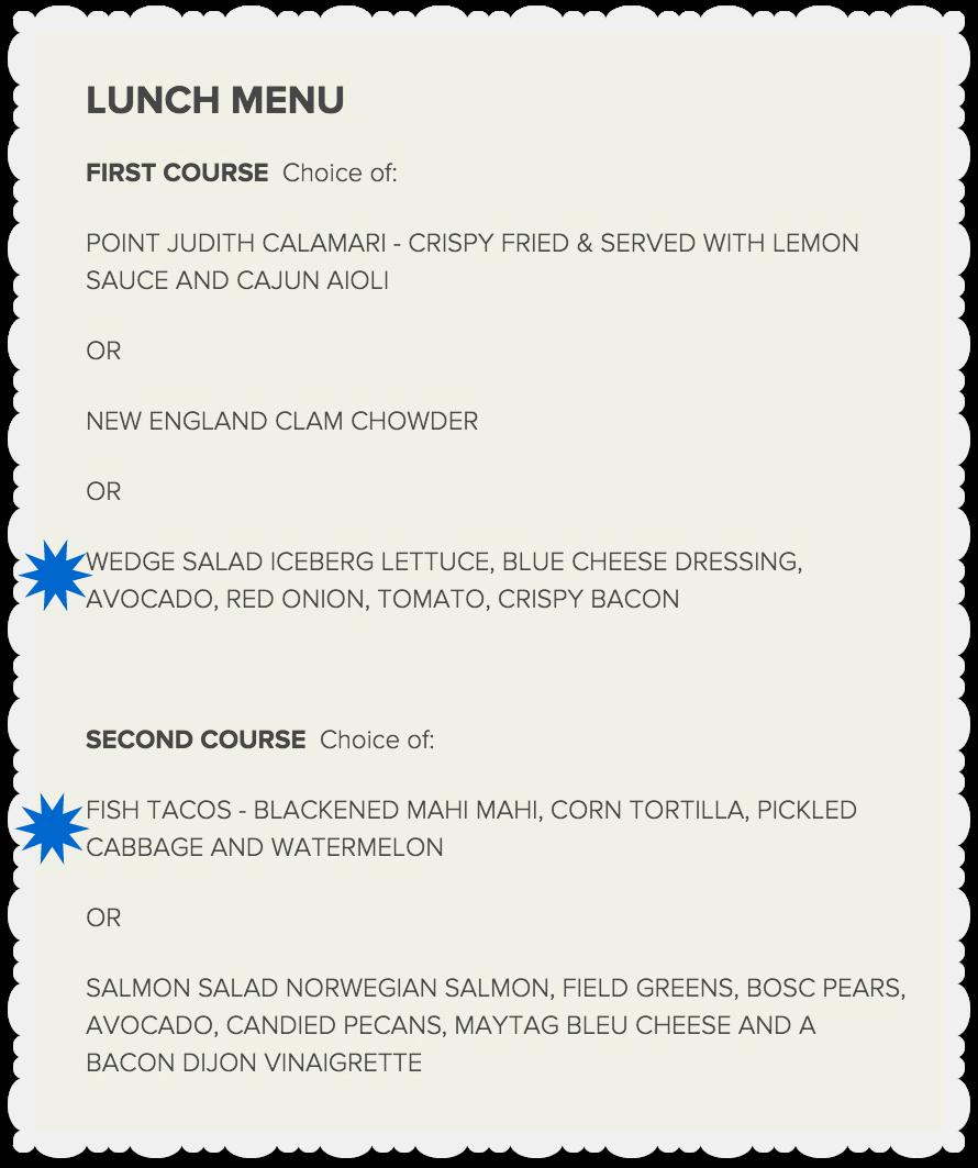 Kansas City Restaurant Week - Newport Grille - Lunch Menu