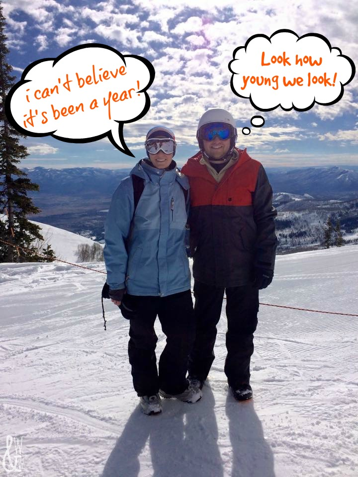 Make sure you know what to pack for a ski weekend so you can have fun like these two!