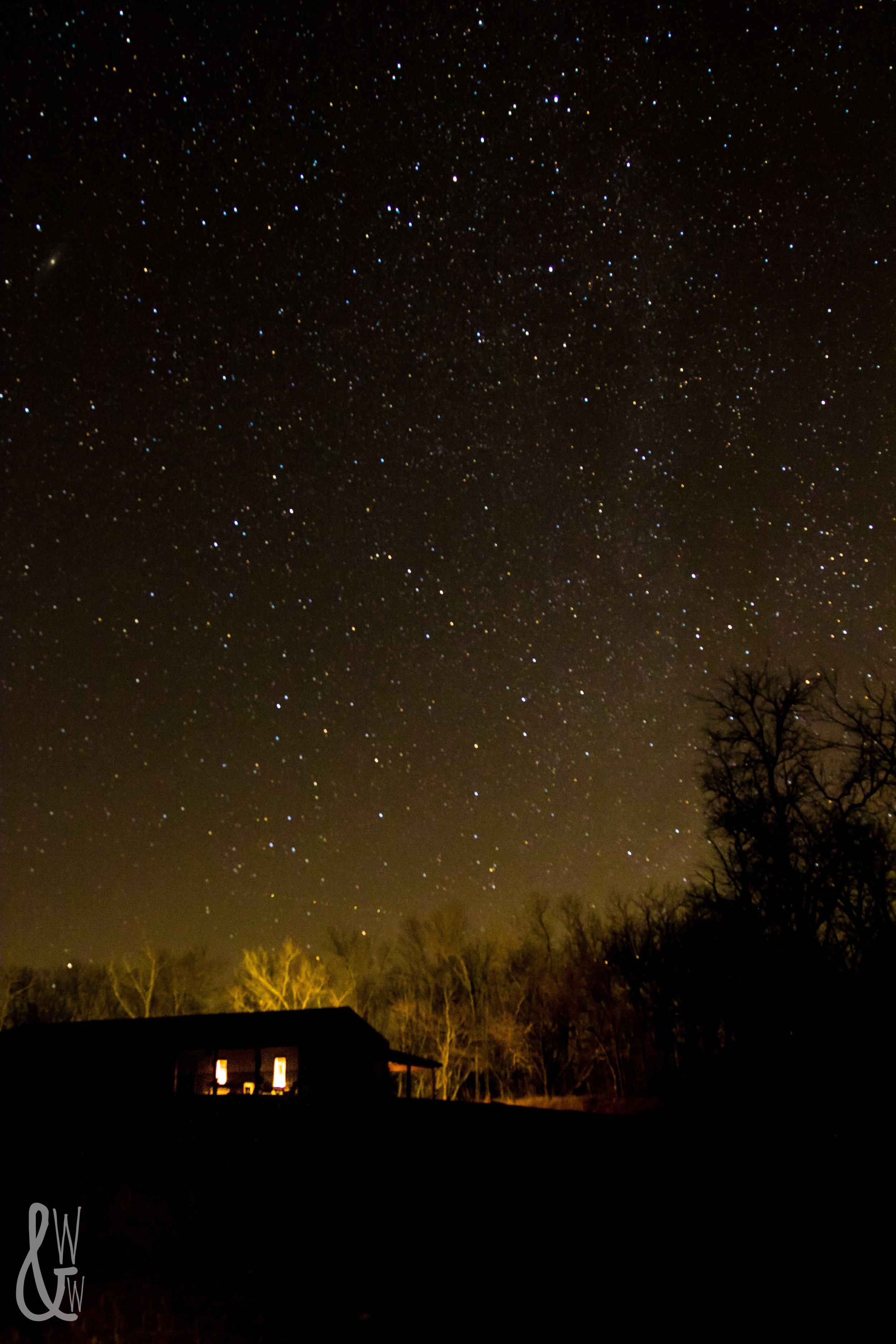 Winter photography at its best: starscapes!