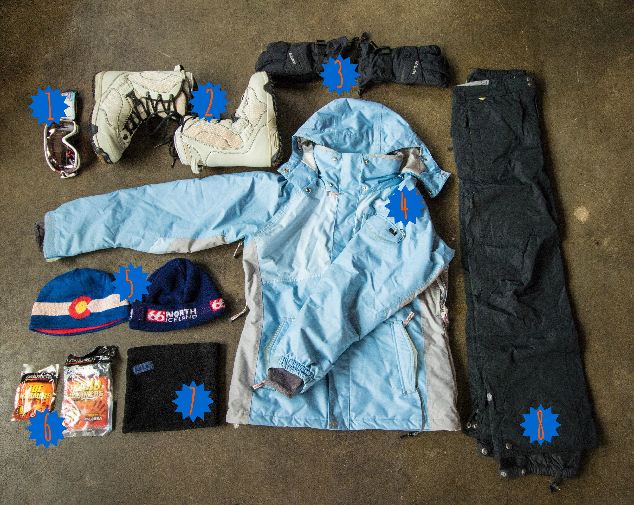 Make sure you know what to pack for a ski weekend! Outer layers are key!