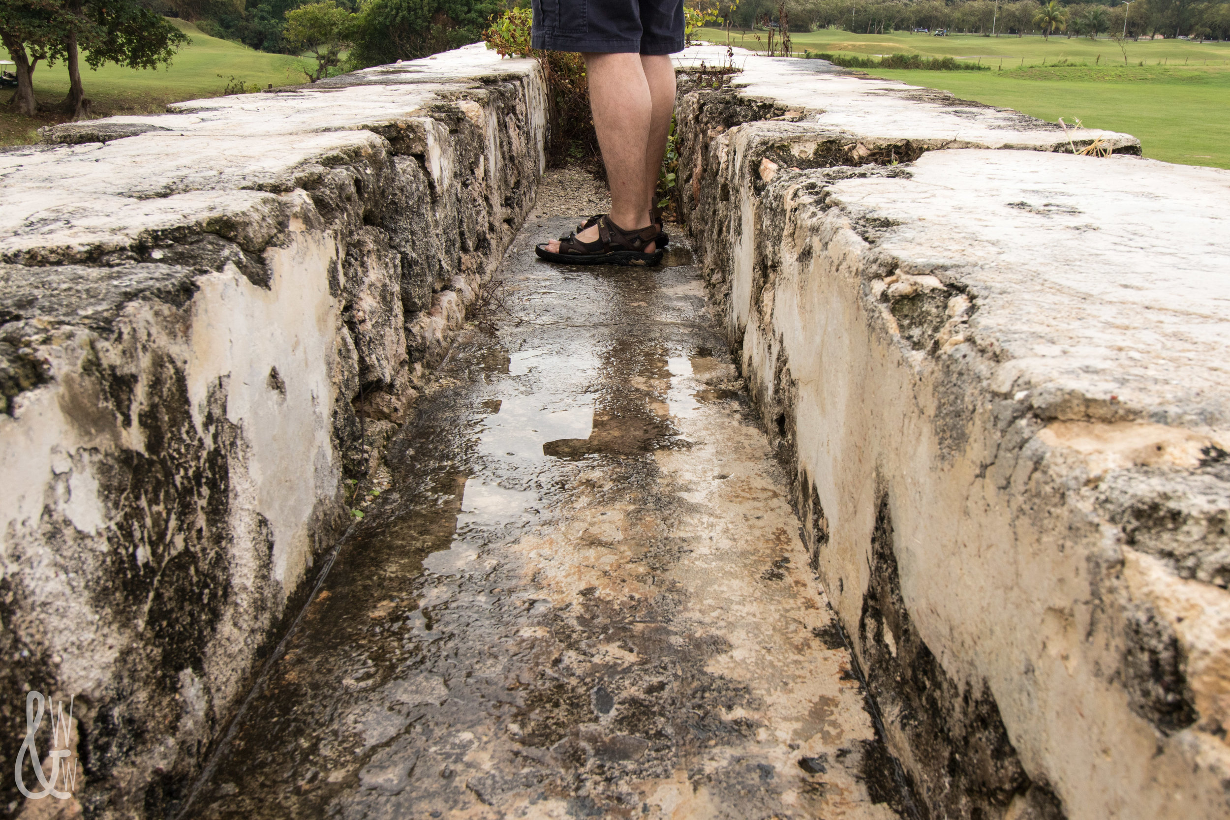 Atop an 1837 aqueduct in Montego Bay, Jamaica