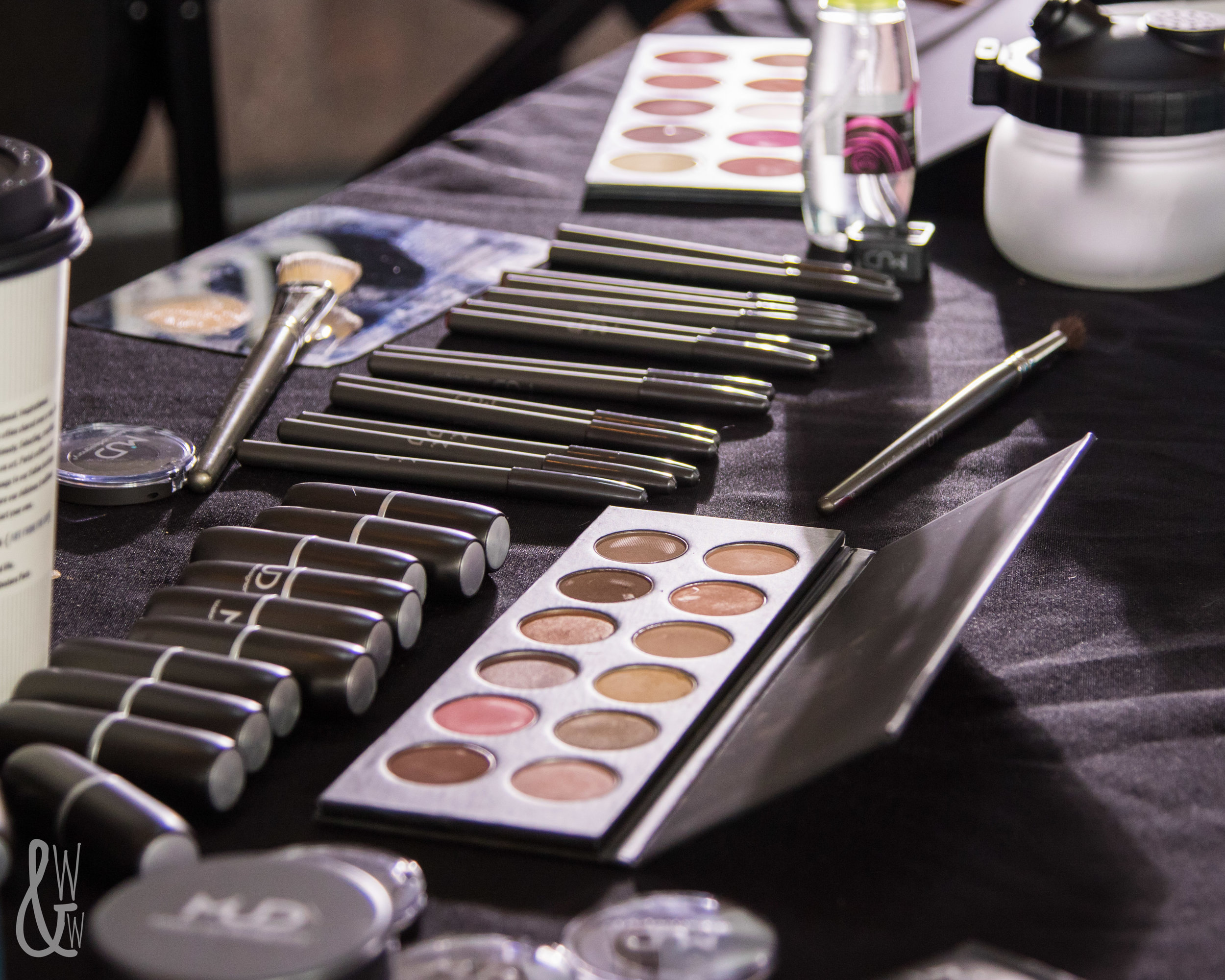 Touch-up makeup at KC Fashion Week