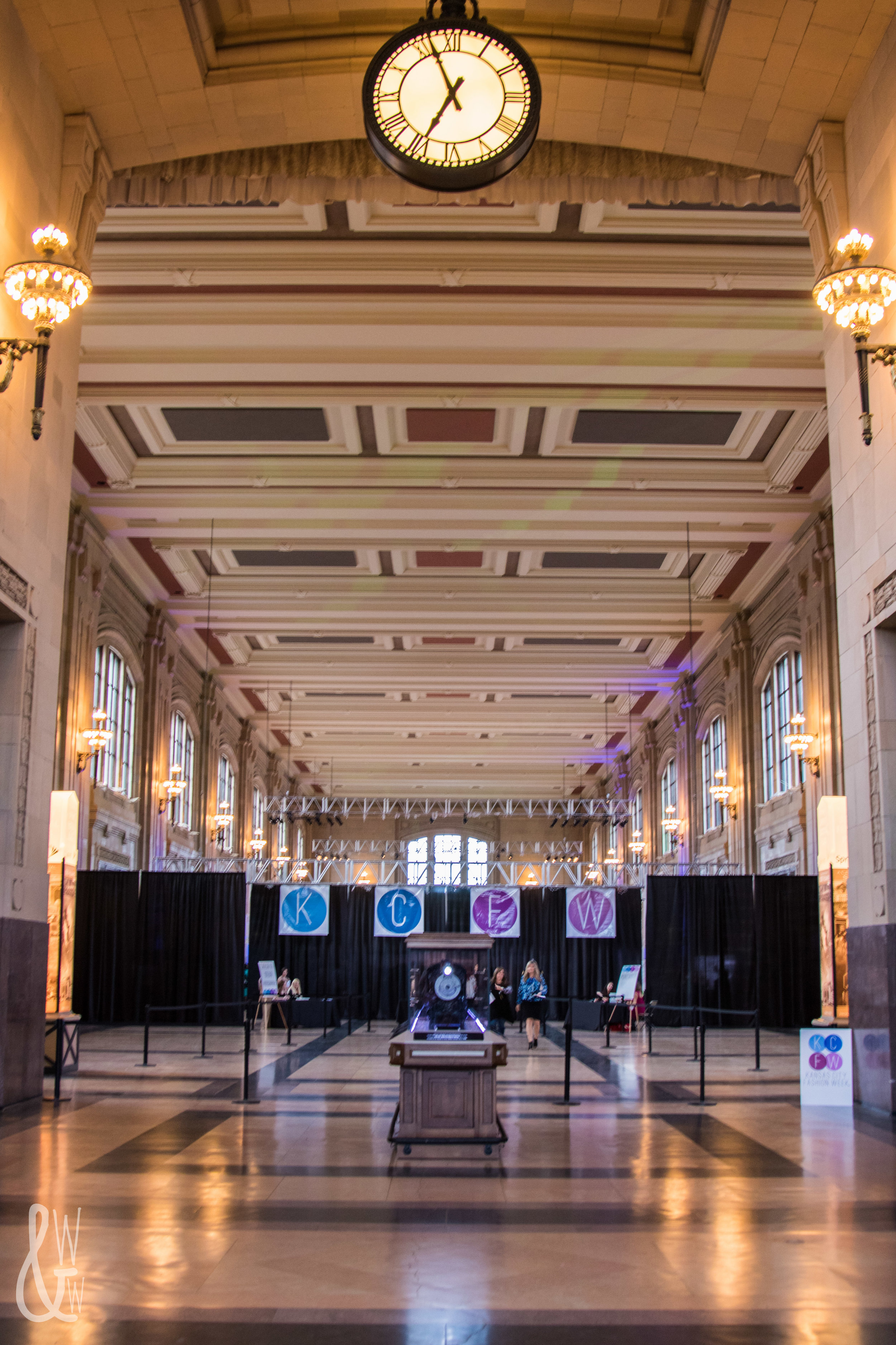 The entrance to KC Fashion Week at Union Station