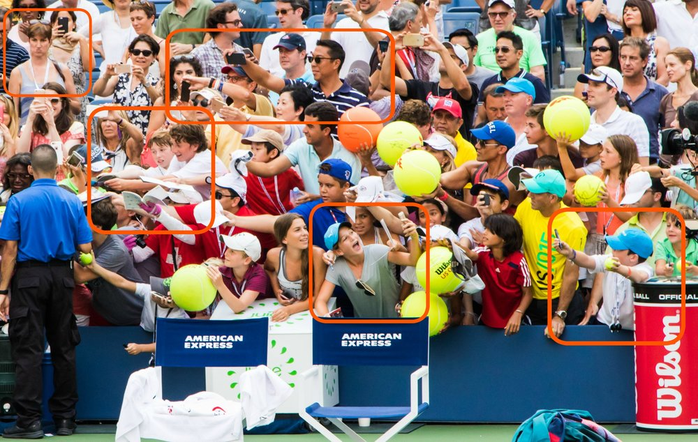 Crazy fans at the 2015 US Open