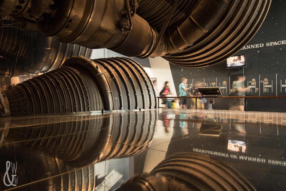Saturn 5 rocket in the National Air & Space Museum