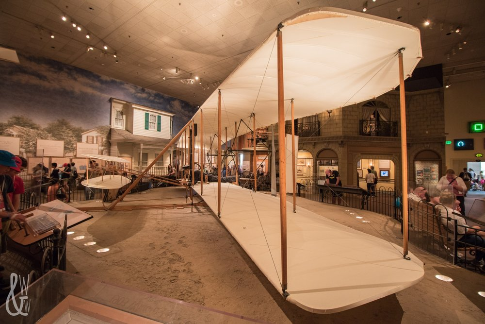 The Wright Bro.'s plane at the National Air & Space Museum