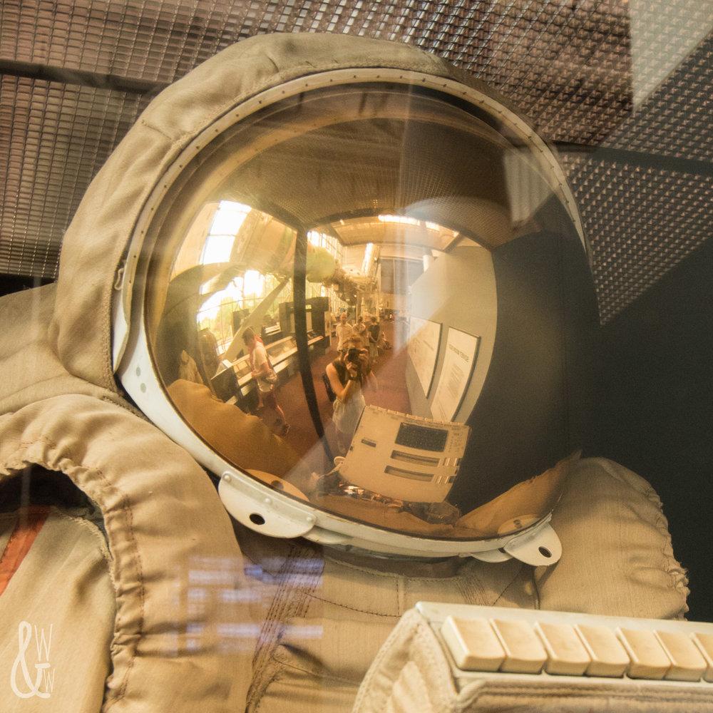 Helmet selfie at the National Air & Space Museum!