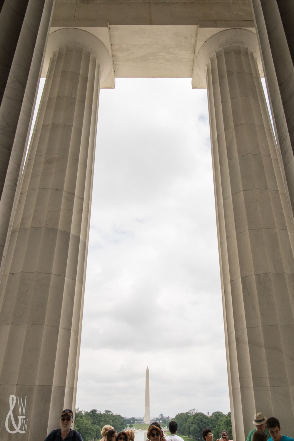 Avoiding the crowds at the Lincoln Memorial