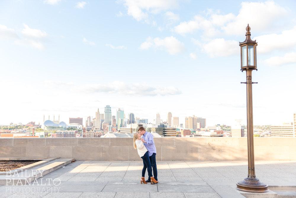 Kat & Drake's Splendid Summertime Engagement   National WWI Museum   Kansas City, MO