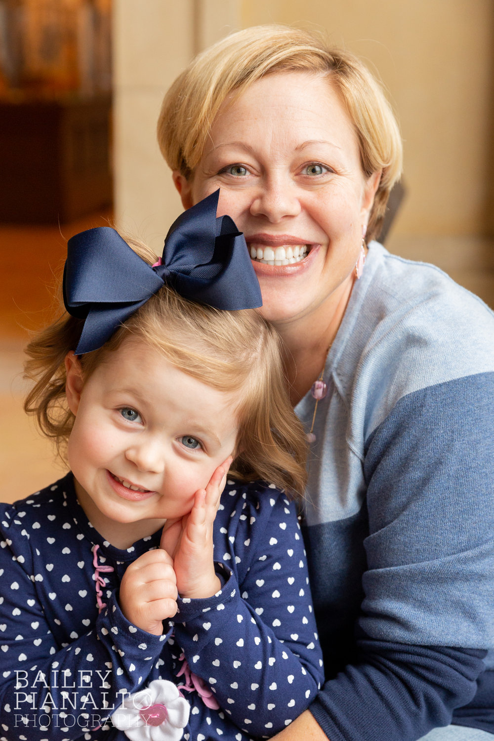 Pink & Navy Fall Family Photos | Union Station | Kansas City, MO