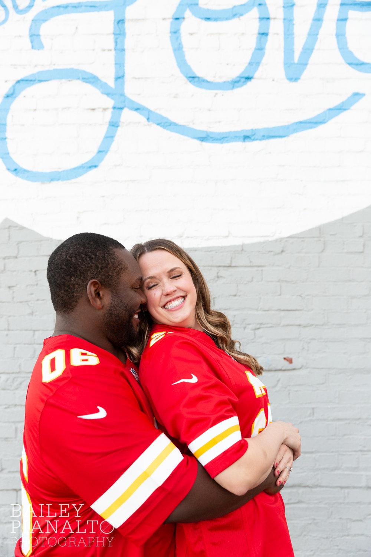 Flawlessly Fall Football Engagement Inspiration | Kansas City, MO