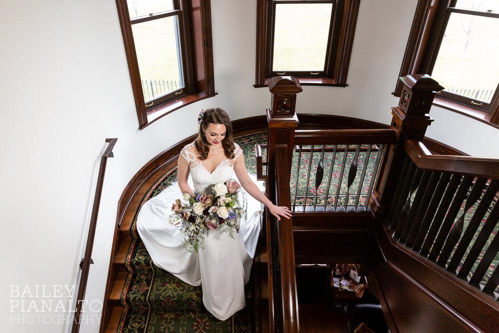 Deep Plum & Ice Blue Wintry Wedding Inspiration at Webster House | Kansas City, MO