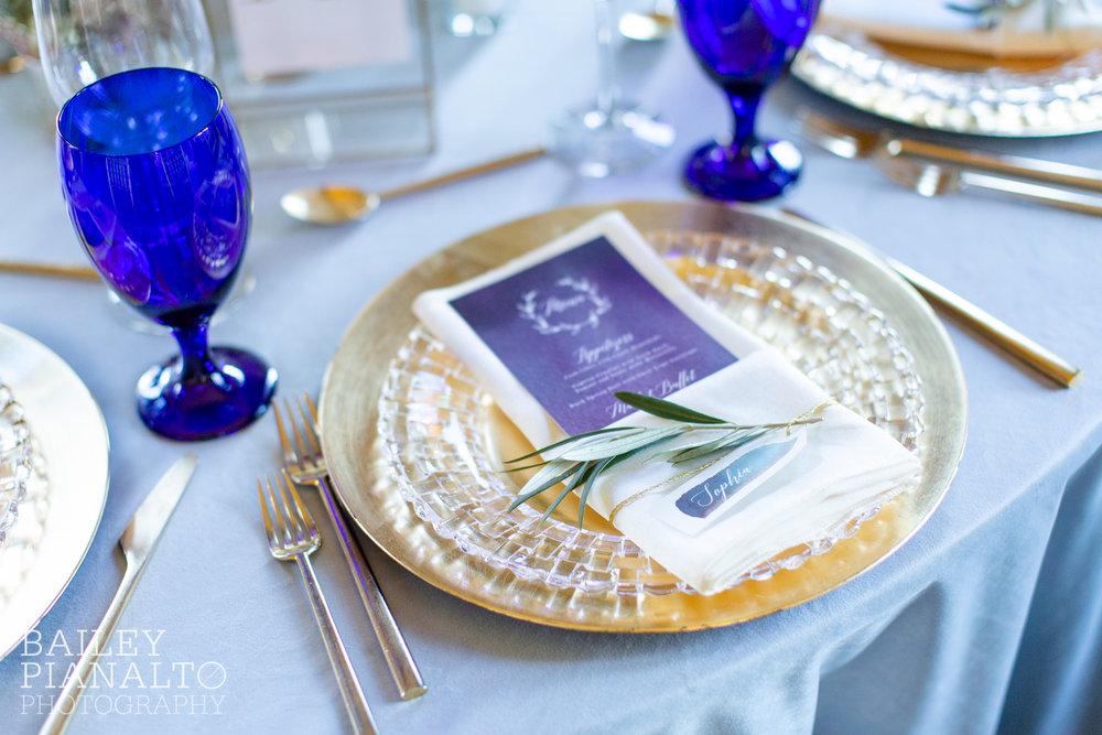 Deep Plum & Ice Blue Wintry Wedding Inspiration at Webster House | Kansas City, MO