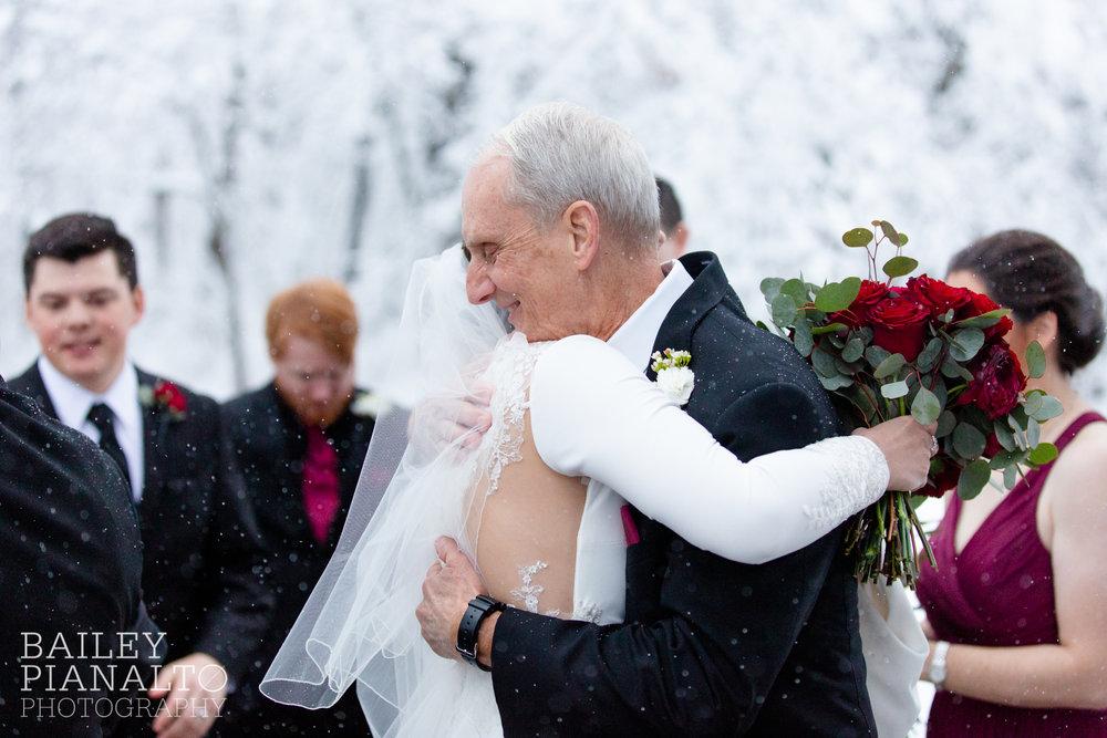 Winter Wonderland Snowstorm Wedding | Kansas City, MO