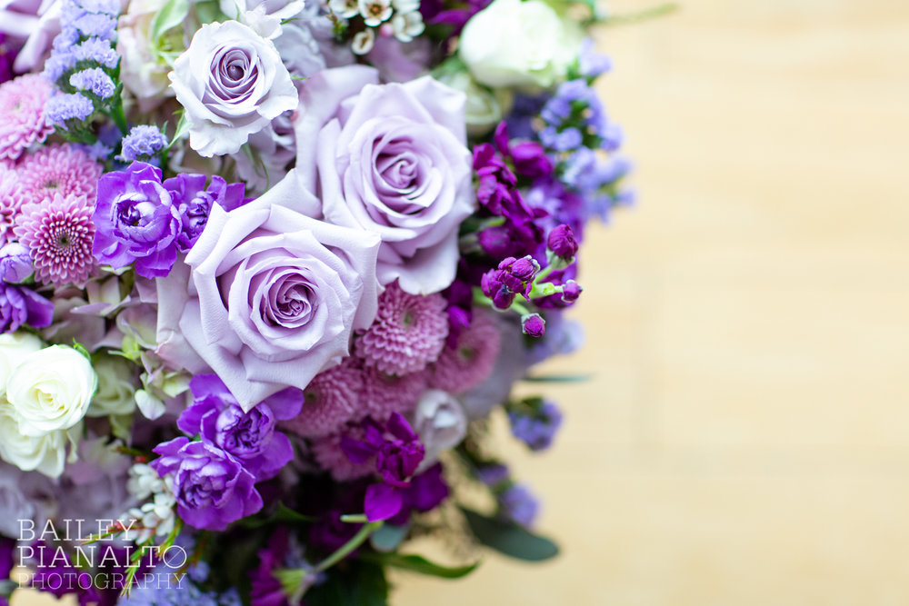 Purple & Gray Down-to-Earth Spring Wedding with Heart + Soul Floral   Uptown Theater   Kansas City, MO