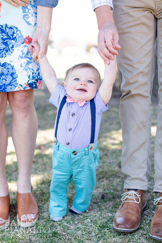 Coral & Turquoise & Navy Springtime Family Photos in Greeley, Colorado