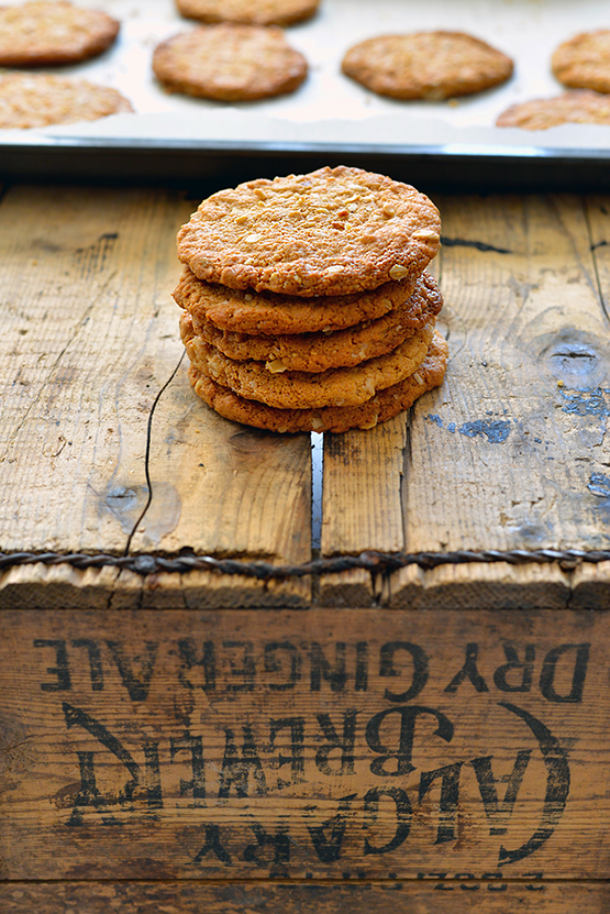 Salted Peanut Butter Cookies - Global Dish - Stephanie Arsenault