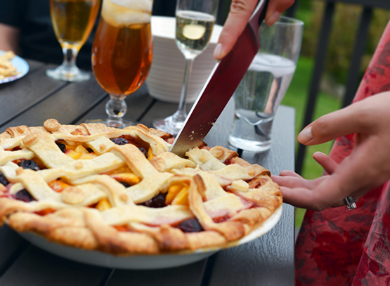 Peach and Cherry Polka-Dot Pie - Global Dish - Stephanie Arsenault