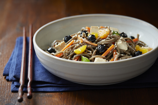 Blueberry Soba Noodle Salad - Global Dish - Stephanie Arsenault