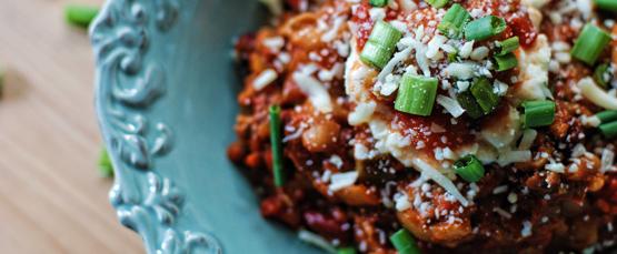 slow-cooked turkey chili - Global Dish - Stephanie Arsenault