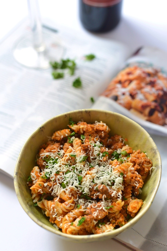 Spicy Calabrese-Style Pork Ragù - Global Dish - Stephanie Arsenault