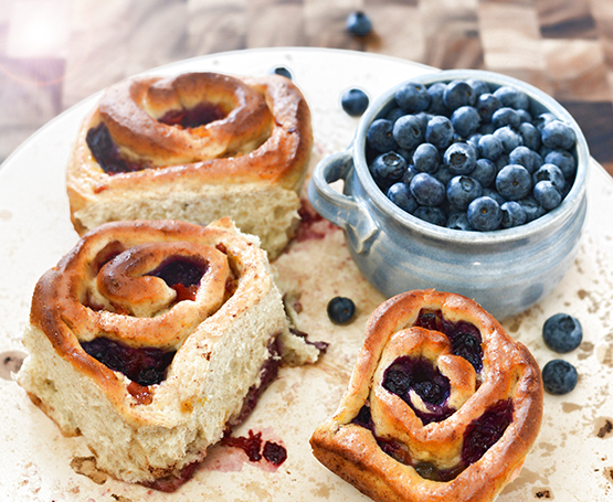 Summer Fruit Cinnamon Rolls - Global Dish - Stephanie Arsenault