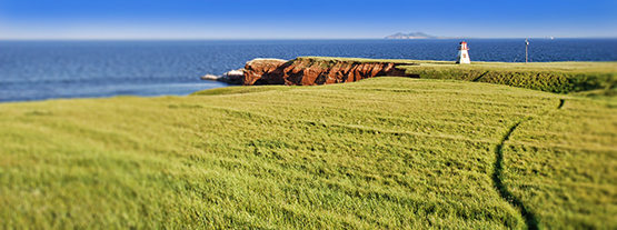 Lighthouse in the Distance in the Highlands of the Magdalen Islands - Global Dish - Stephanie Arsenault