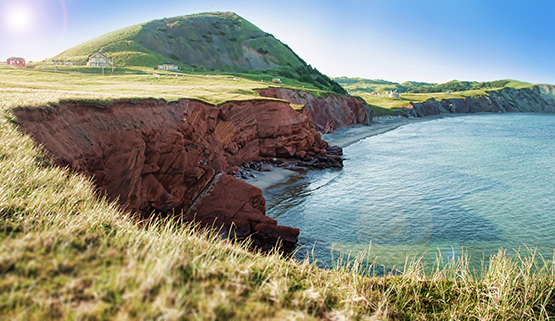 Red Cliffs of the Magdalen Islands - Global Dish - Stephanie Arsenault