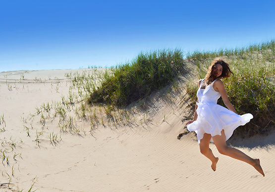 Jumping in the Sand Dunes of the Magdalen Islands - Global Dish - Stephanie Arsenault