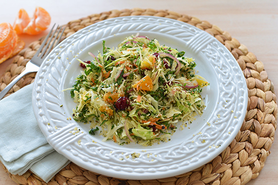 Winter Cabbage & Kale Salad - Stephanie Arsenault - Global Dish