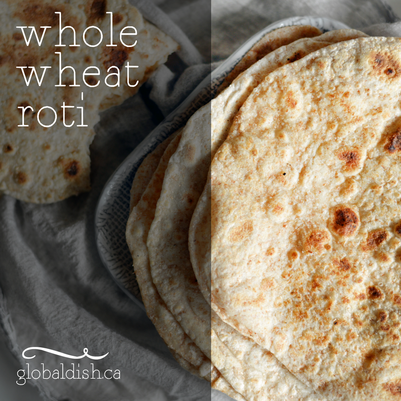 Whole-Wheat Roti Recipe from INDIAN CUISINE Diabetes Cookbook - Global Dish