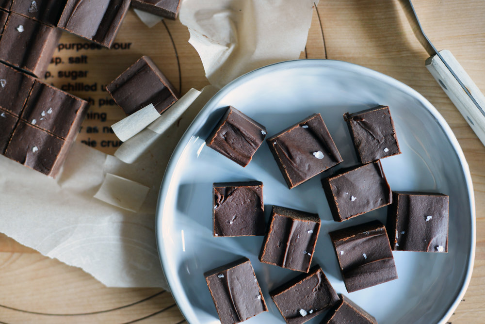 Chocolate Peanut Butter Bourbon Fudge - Global Dish - Stephanie Arsenault