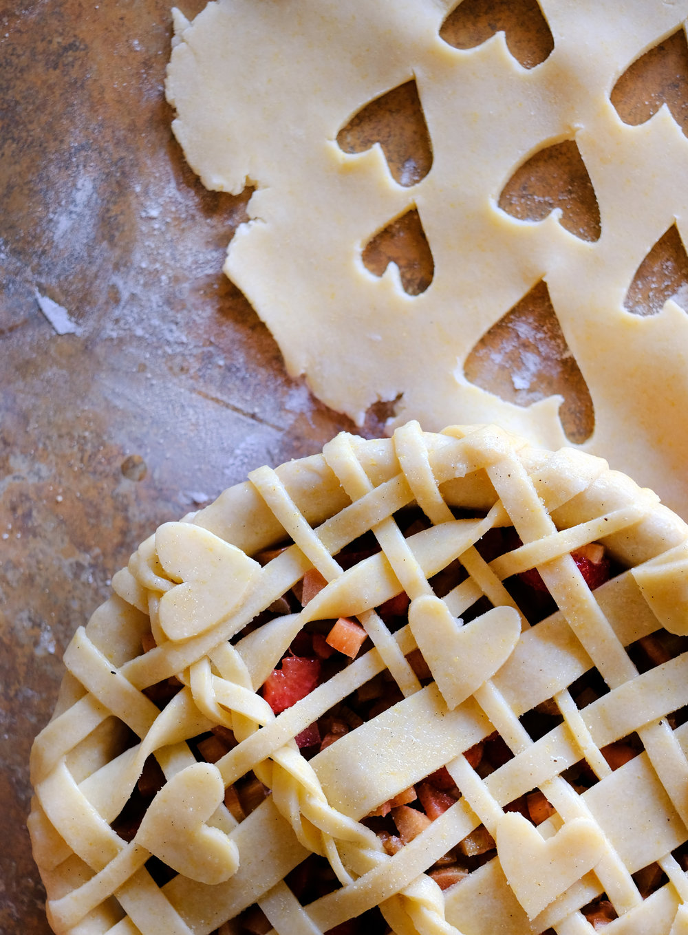 Overnight Strawberry-Rhubarb Pie - Global Dish - Stephanie Arsenault
