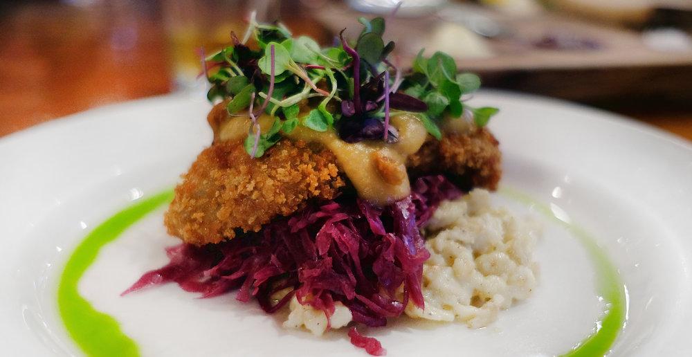 Duck Schnitzel at Otto's in Fredericksburg - Global Dish - Stephanie Arsenault