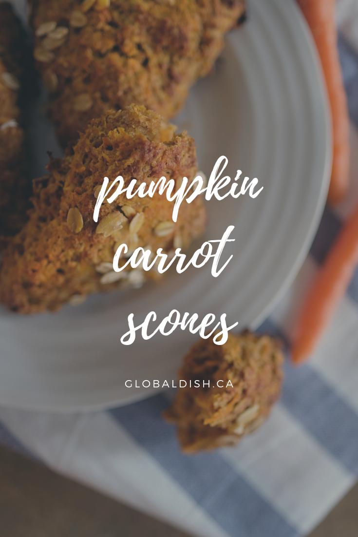 Pumpkin Carrot Scones - Stephanie Arsenault