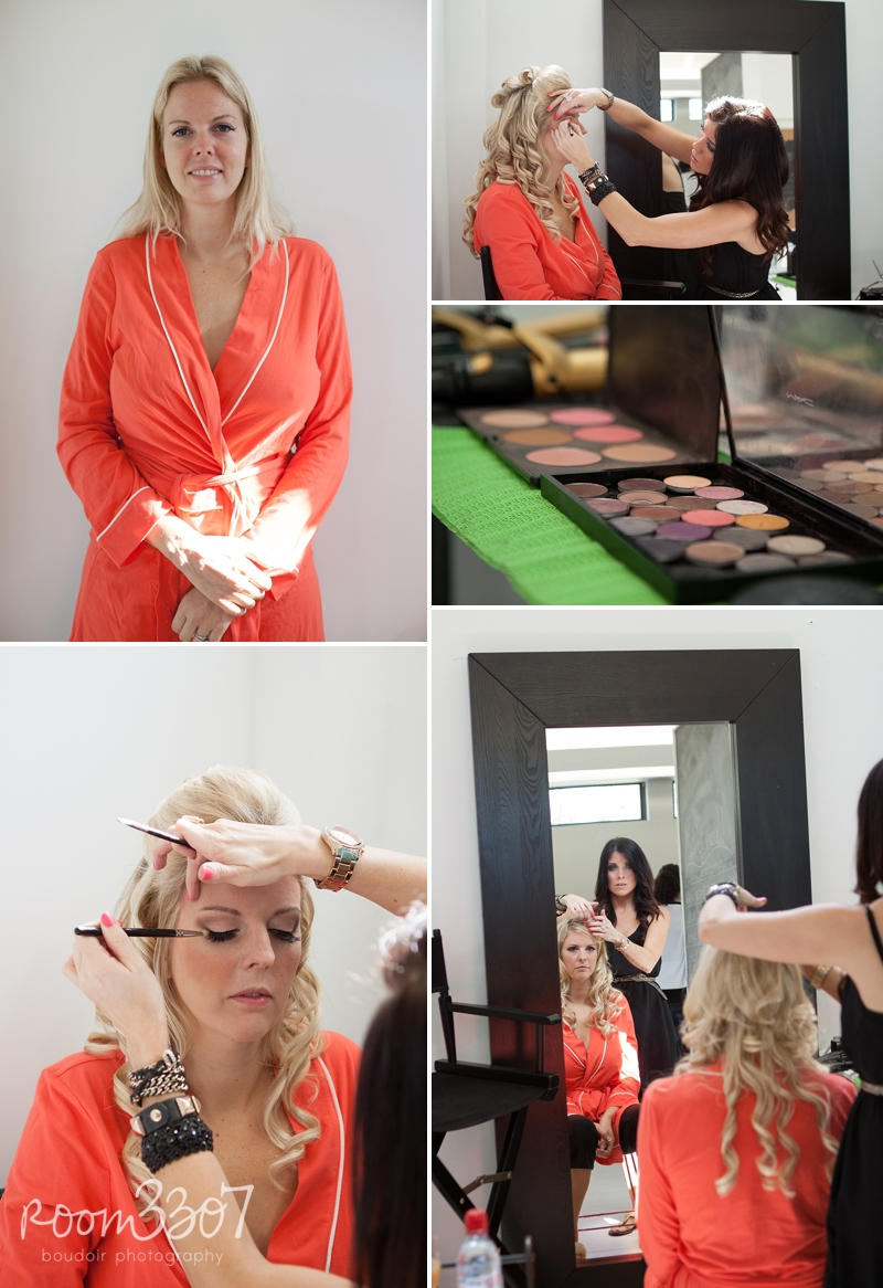 Tampa boudoir hair and makeup
