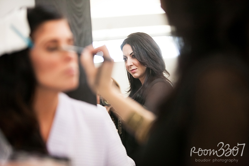 Jess Waldrop Makeup Artists behind the scenes photo shoot for Room 3307 boudoir photography in Tampa, Florida