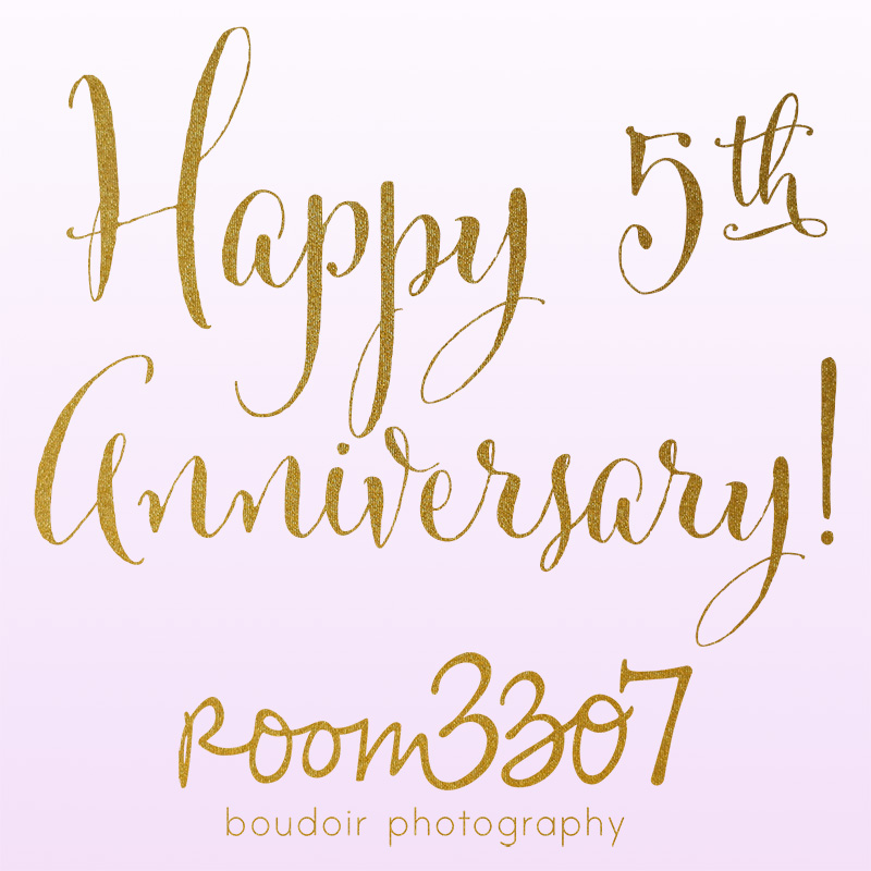 Tampa boudoir photography studio celebrates 5 year anniversary of being in business. Happy 5th Anniversary to Room 3307 boudoir photography!