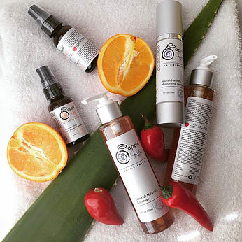 Picture:Some of the Apple Rose Beauty skin care products - made with certified organic ingredients