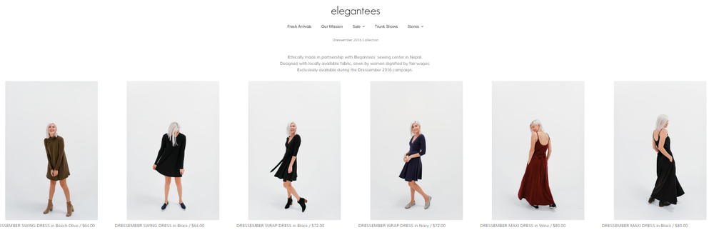 The Dressember Collection from Elegantees