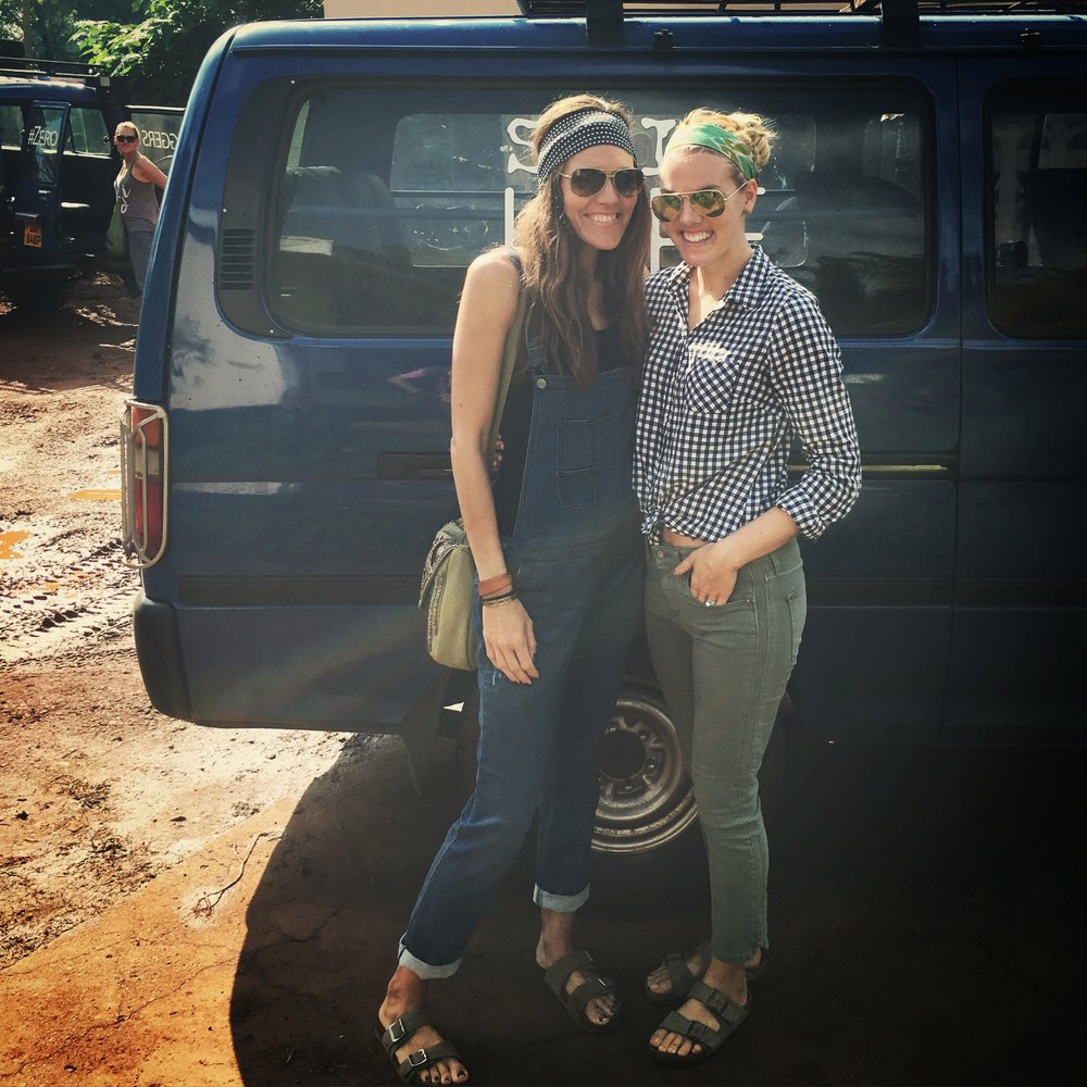 Emily Stringer, founder of Pamoja brands, and lindsey raymond, co-founder of she changes EVERYTHING - uganda, 2016